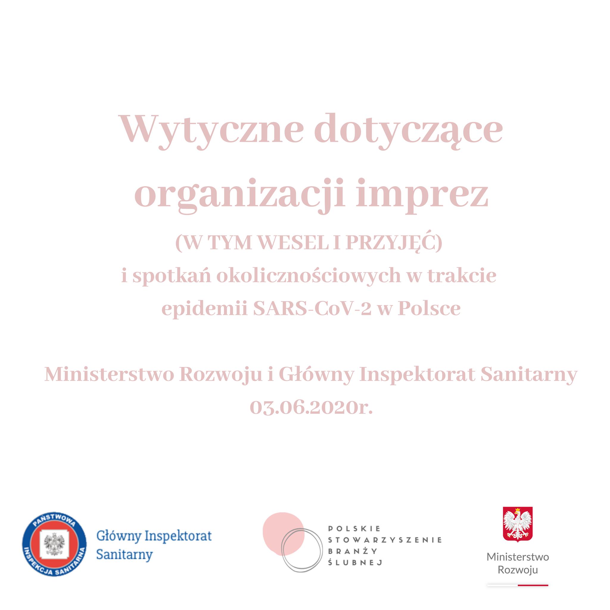 Wytyczne dotyczące organizacji wesel w trakcie epidemii SARS-CoV