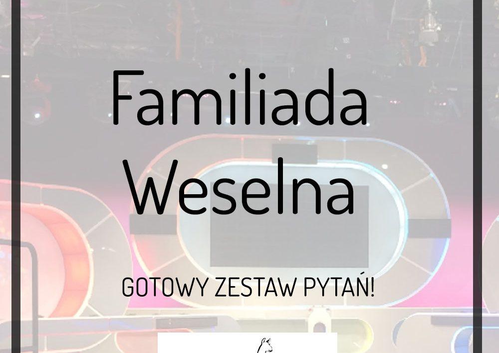 Familiada weselna familiada na weselu zestaw pytań dj lama